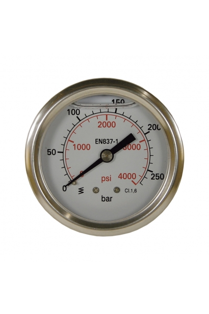 "PRESSURE GAUGE 0-250 63 MM 1/4""M BACK"