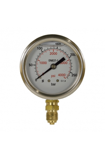 PRESSURE GAUGE 0-250 63MM 0-250 BOTTOM