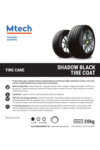 SHADOW BLACK TIRE COAT 20L