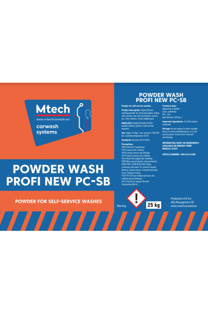 Powder Wash Profi New PC-SB 25kg