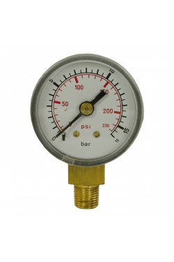 "PRESSURE GAUGE 0-16 1/8""M BOTTOM"