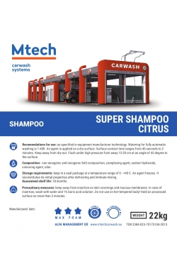 Shampoo Powder Mtech superbox bd bubble 18kg